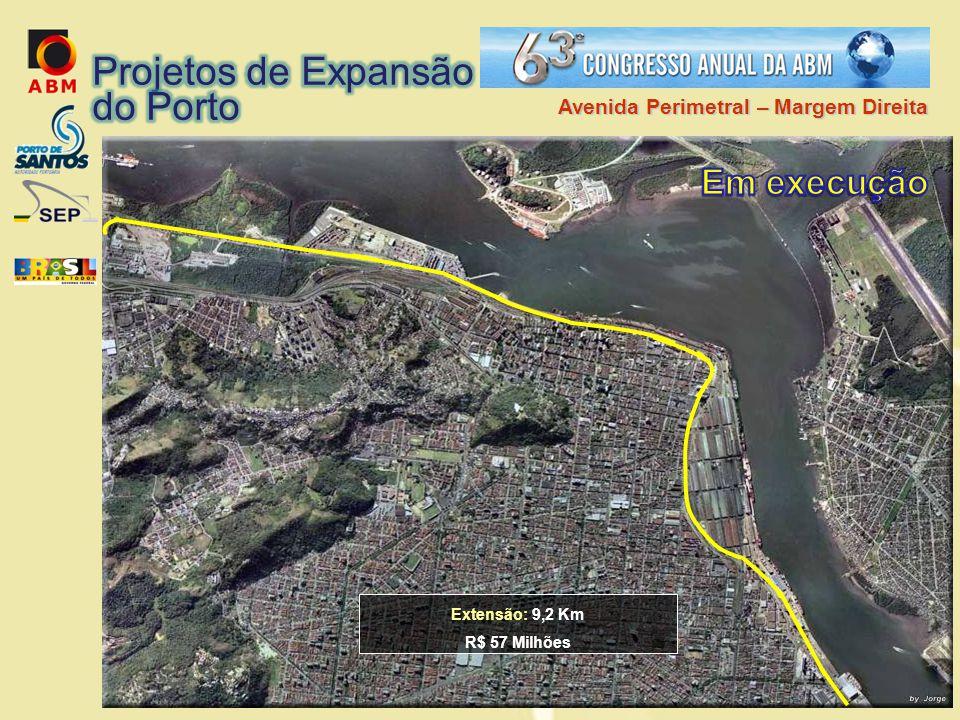 Extensão: 9,2 Km R$ 57 Milhões Avenida Perimetral – Margem Direita