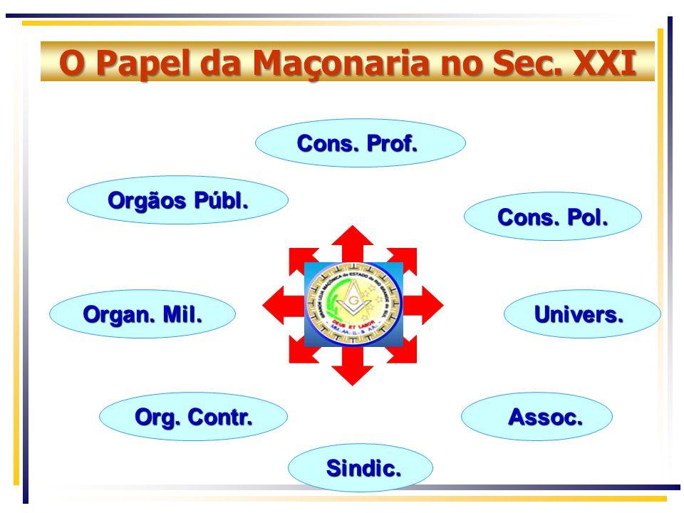 O Papel da Maçonaria no Sec.XXI Cons. Prof. Orgãos Públ.