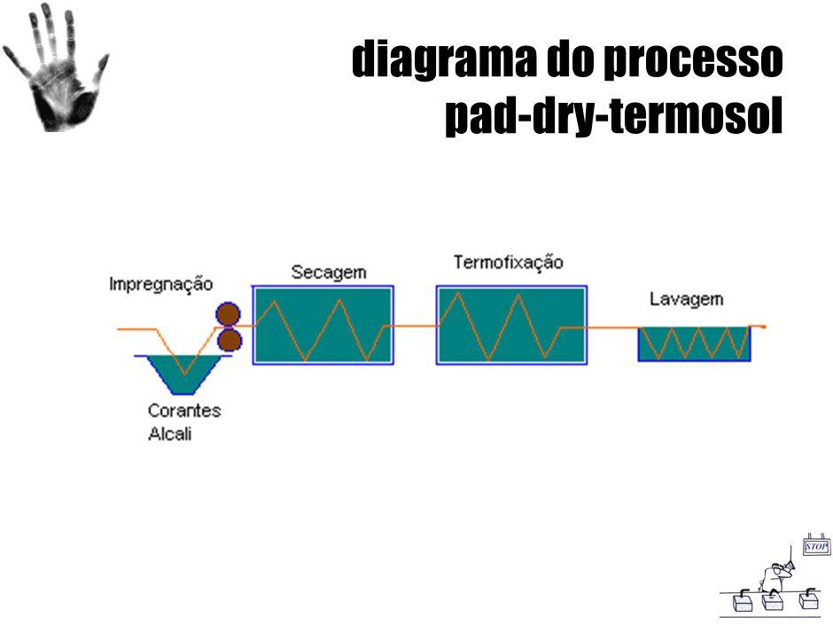 diagrama do processo pad-dry-termosol