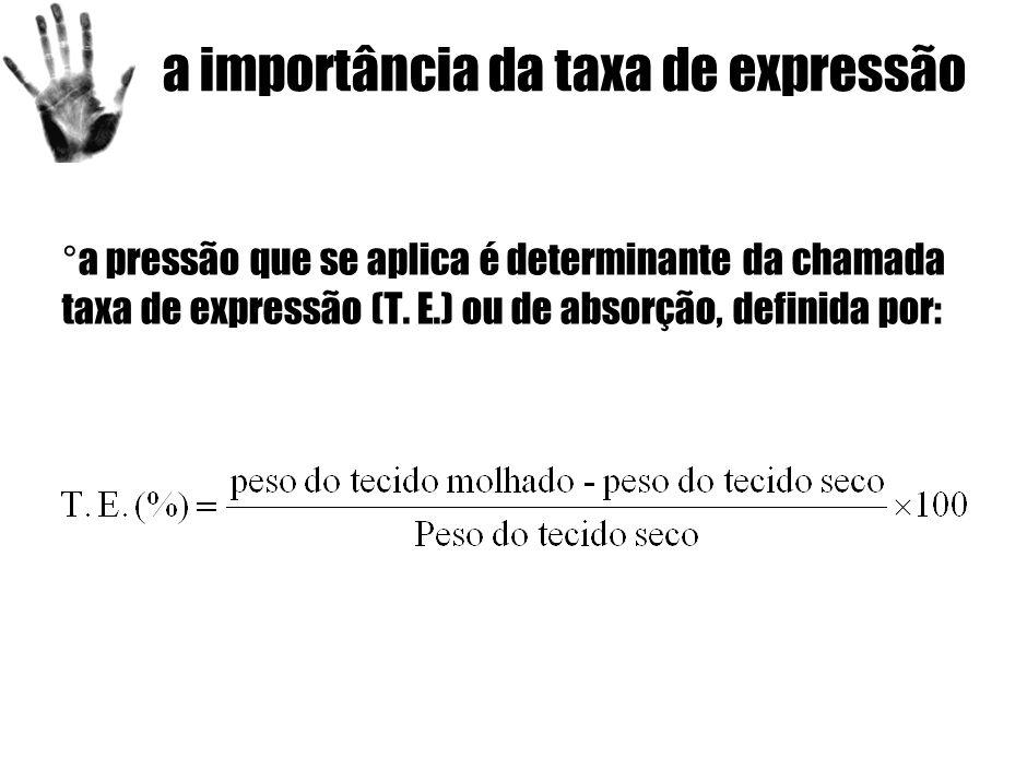 a importância da taxa de expressão ° a pressão que se aplica é determinante da chamada taxa de expressão (T.