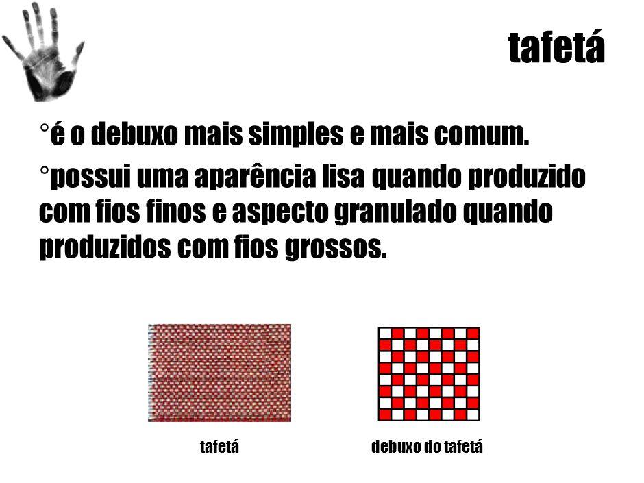 tafetá ° é o debuxo mais simples e mais comum.