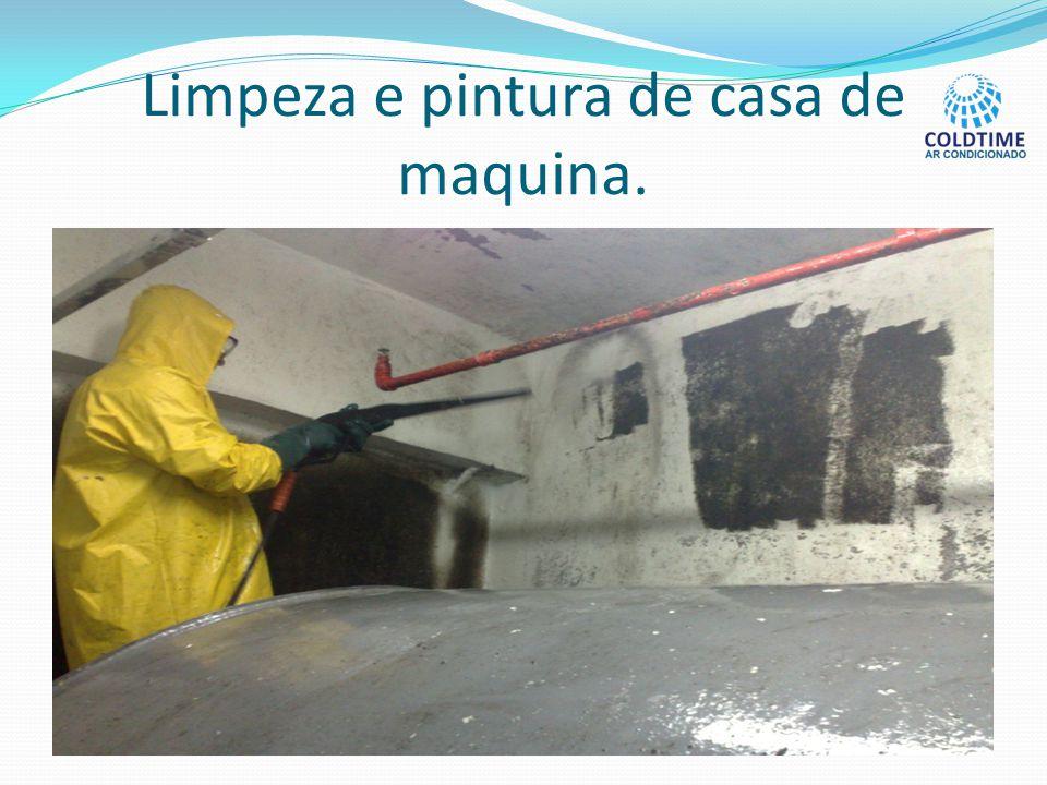 Limpeza e pintura de casa de maquina.
