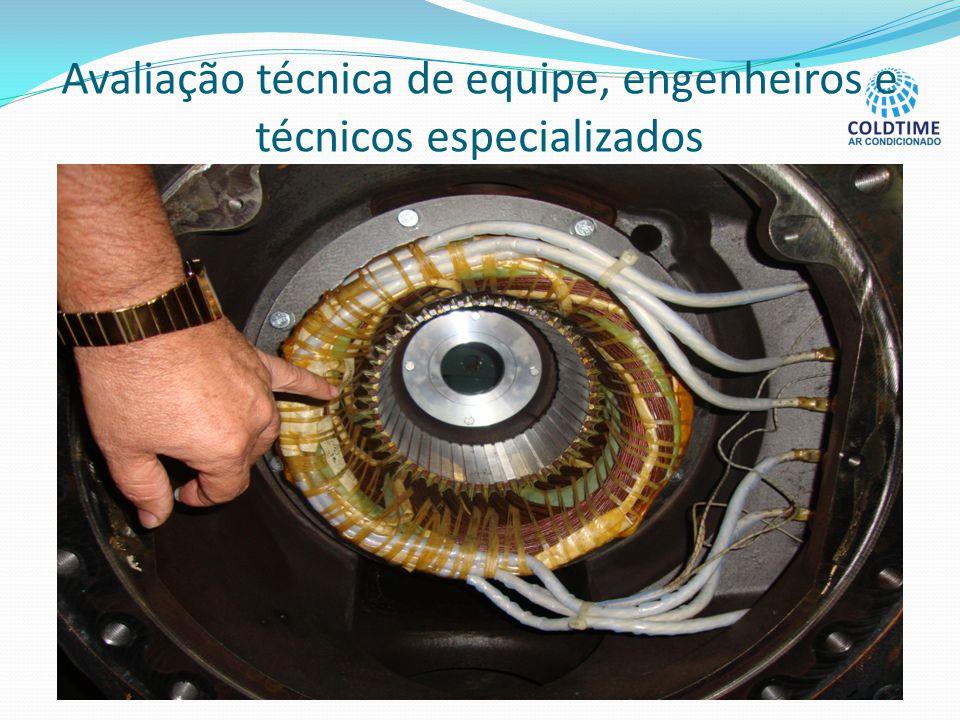 Avaliação técnica de equipe, engenheiros e técnicos especializados