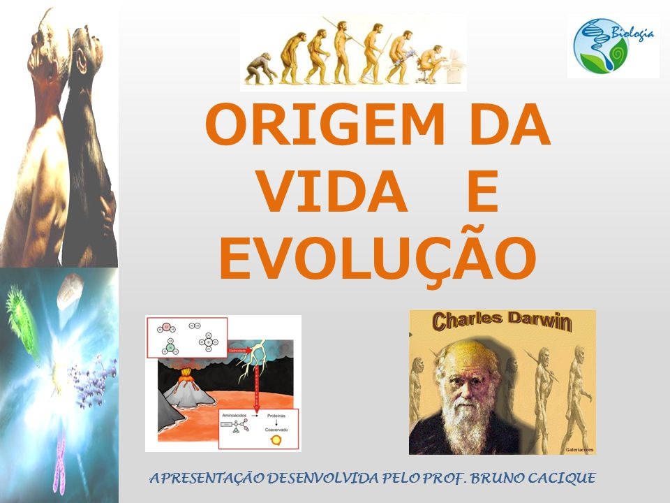 ORIGEM DA VIDA E EVOLUÇÃO APRESENTAÇÃO DESENVOLVIDA PELO PROF. BRUNO CACIQUE