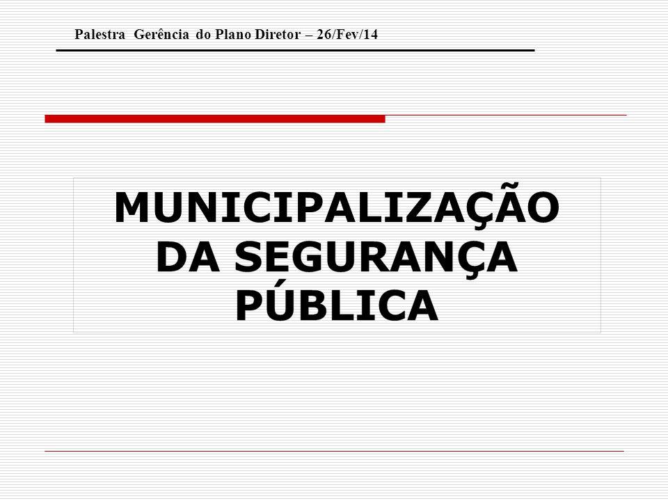 OBJETIVOS 1.Apresentar o conceito de Defesa Social; 2.Identificar a responsabilidade dos municípios nas ações de redução da violência.