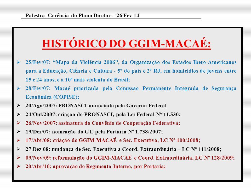 """HISTÓRICO DO GGIM-MACAÉ:  25/Fev/07: """"Mapa da Violência 2006"""", da Organização dos Estados Ibero-Americanos para a Educação, Ciência e Cultura - 5º do"""