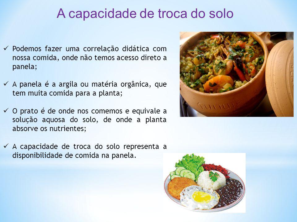  Podemos fazer uma correlação didática com nossa comida, onde não temos acesso direto a panela;  A panela é a argila ou matéria orgânica, que tem mu