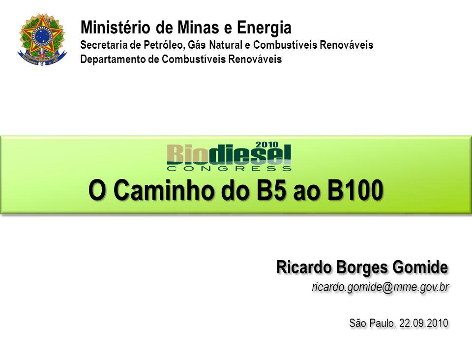  Expandir o biodiesel é um objetivo do governo.