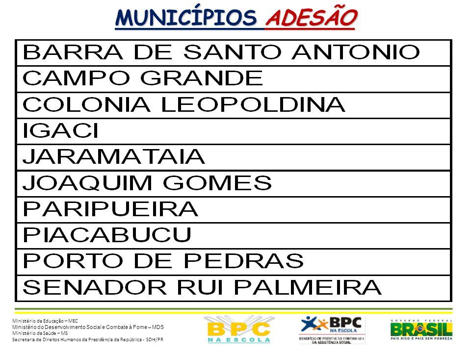 ESTADO DE ALAGOAS (AL)  Situação em 11/11/13 da Adesão / Renovação ao BPC na Escola: • 81 municípios renovaram os compromissos com o Programa; • 10 n