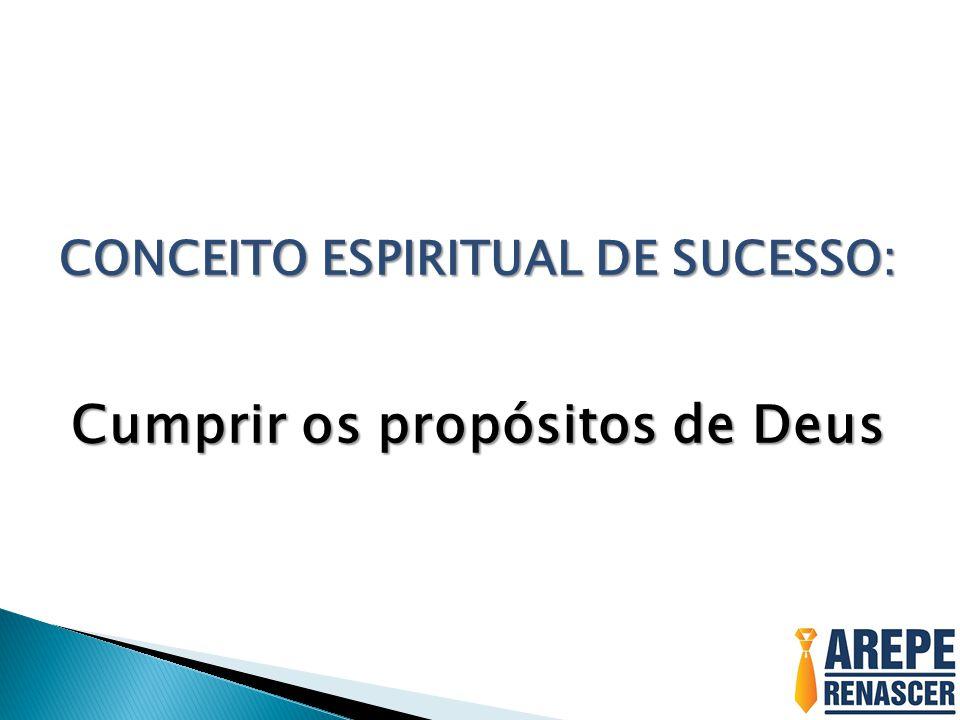 CONCEITO ESPIRITUAL DE SUCESSO: Cumprir os propósitos de Deus