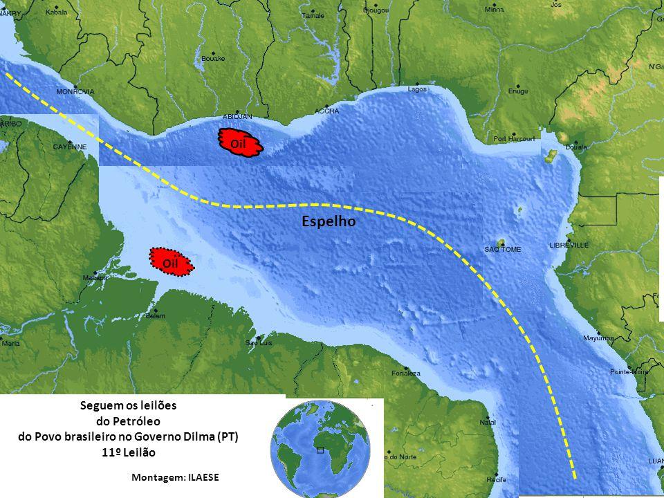 Seguem os leilões do Petróleo do Povo brasileiro no Governo Dilma (PT) 11º Leilão Montagem: ILAESE Espelho Oil