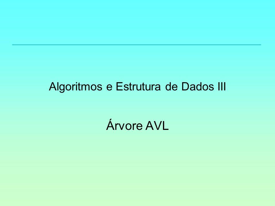 Algoritmos e Estrutura de Dados III Árvore AVL