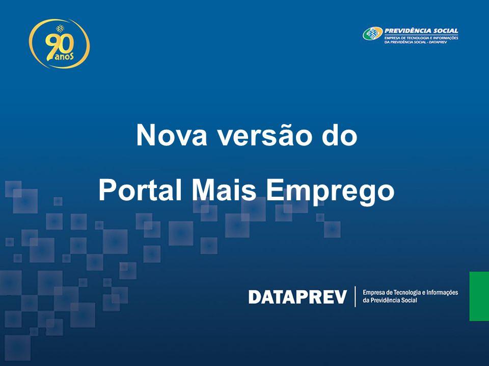 Nova versão do Portal Mais Emprego