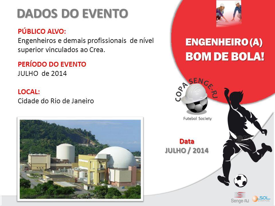 DADOS DO EVENTO PÚBLICO ALVO: Engenheiros e demais profissionais de nível superior vinculados ao Crea. PERÍODO DO EVENTO JULHO de 2014 LOCAL: Cidade d