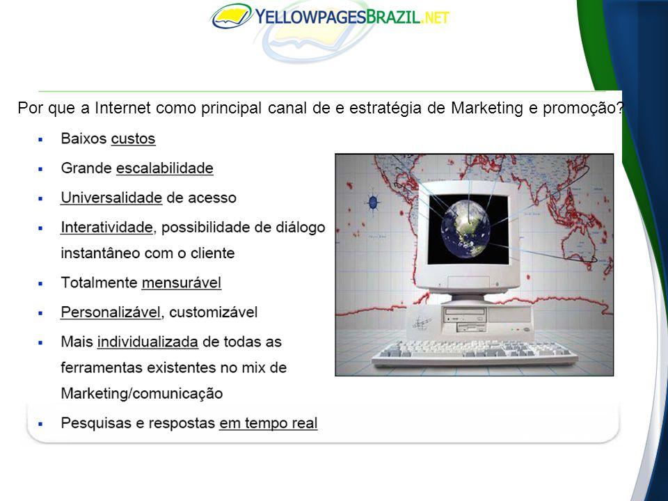 Por que a Internet como principal canal de e estratégia de Marketing e promoção