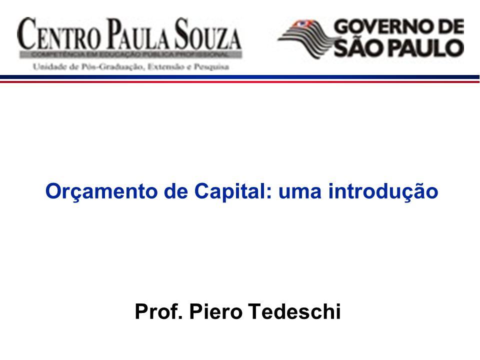 Orçamento de Capital: uma introdução Prof. Piero Tedeschi