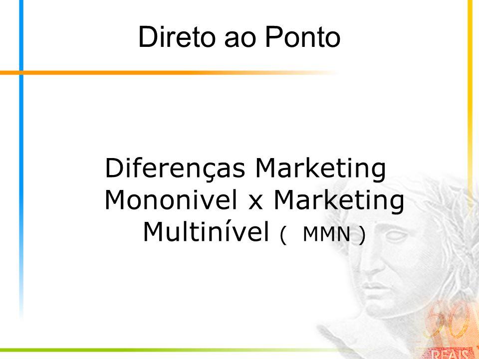 Direto ao Ponto Diferenças Marketing Mononivel x Marketing Multinível ( MMN )