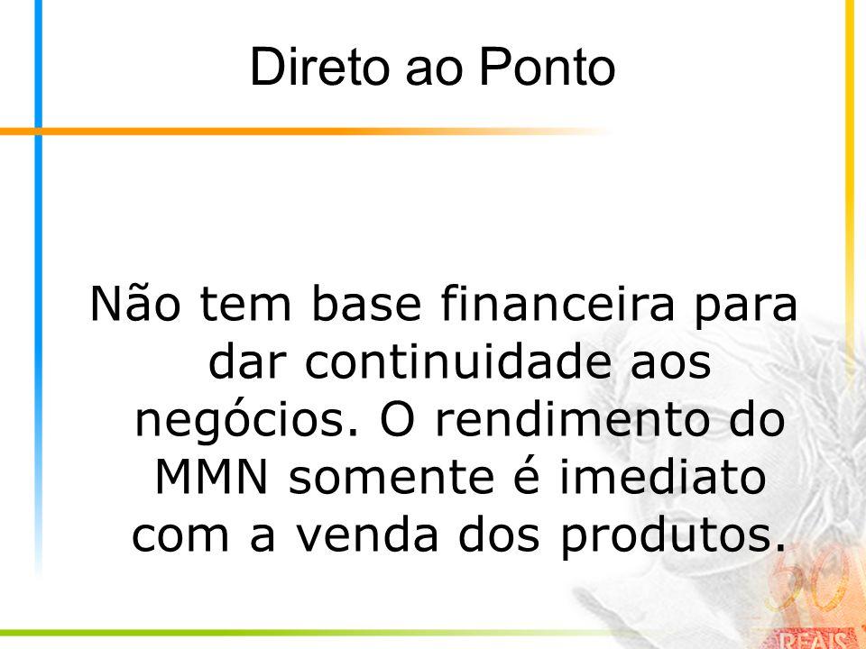 Direto ao Ponto Não tem base financeira para dar continuidade aos negócios.