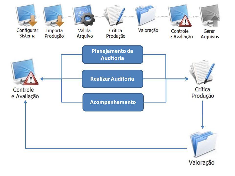 Planejamento da Auditoria Realizar Auditoria Acompanhamento