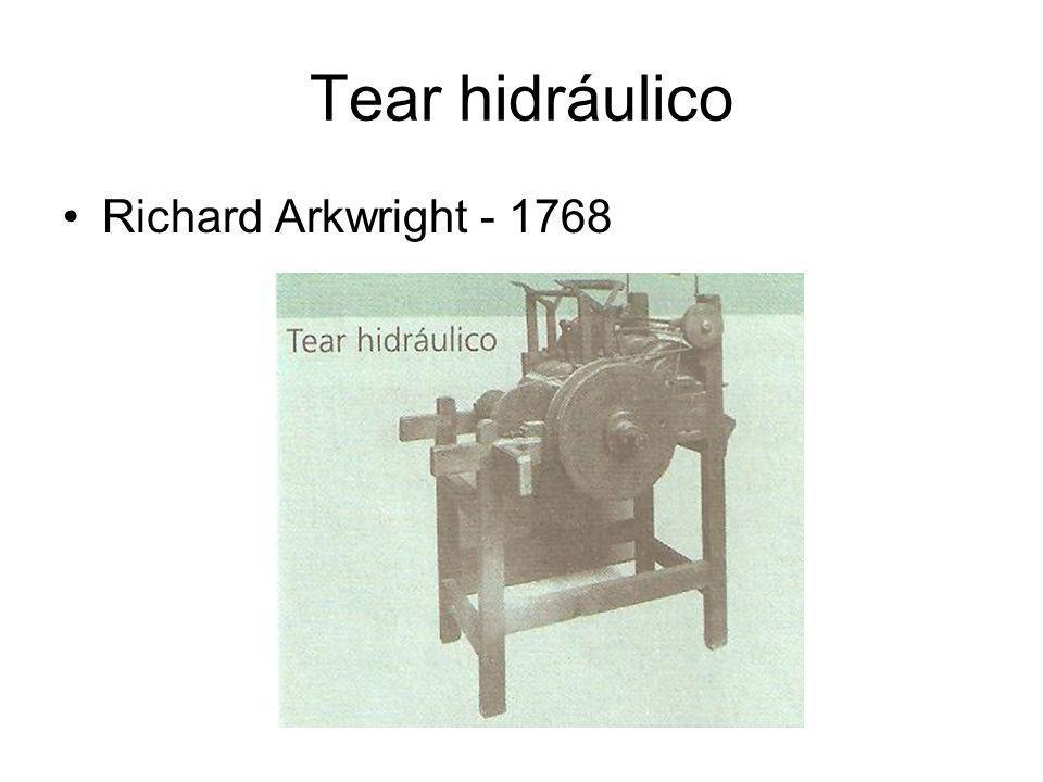 Tear hidráulico •Richard Arkwright - 1768