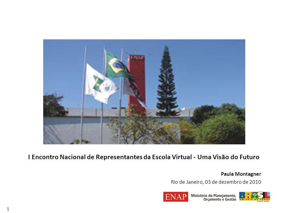 I Encontro Nacional de Representantes da Escola Virtual - Uma Visão do Futuro Paula Montagner Rio de Janeiro, 03 de dezembro de 2010 1