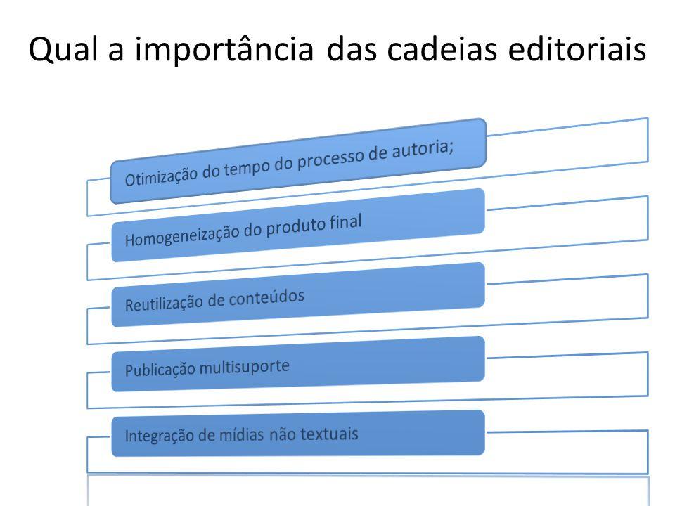 Qual a importância das cadeias editoriais
