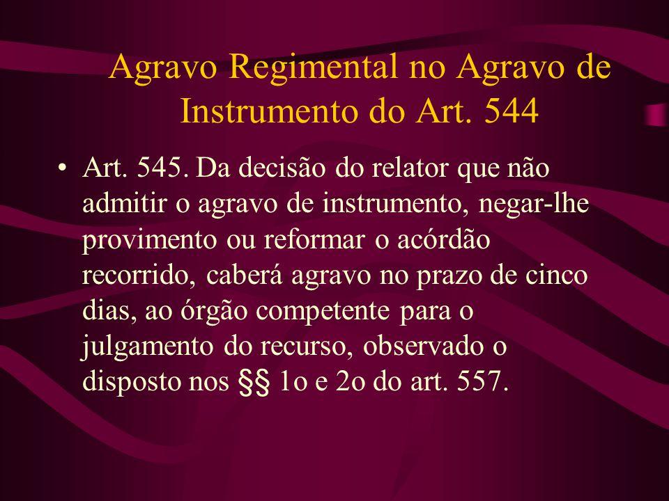 Agravo Regimental no Agravo de Instrumento do Art.
