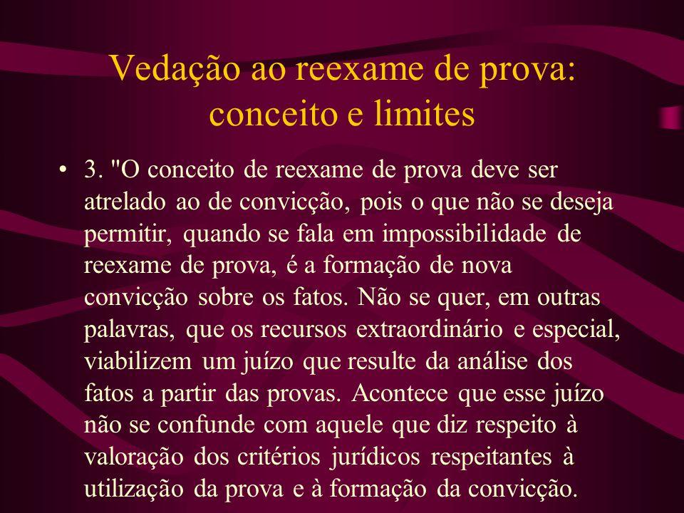 Vedação ao reexame de prova: conceito e limites •3.