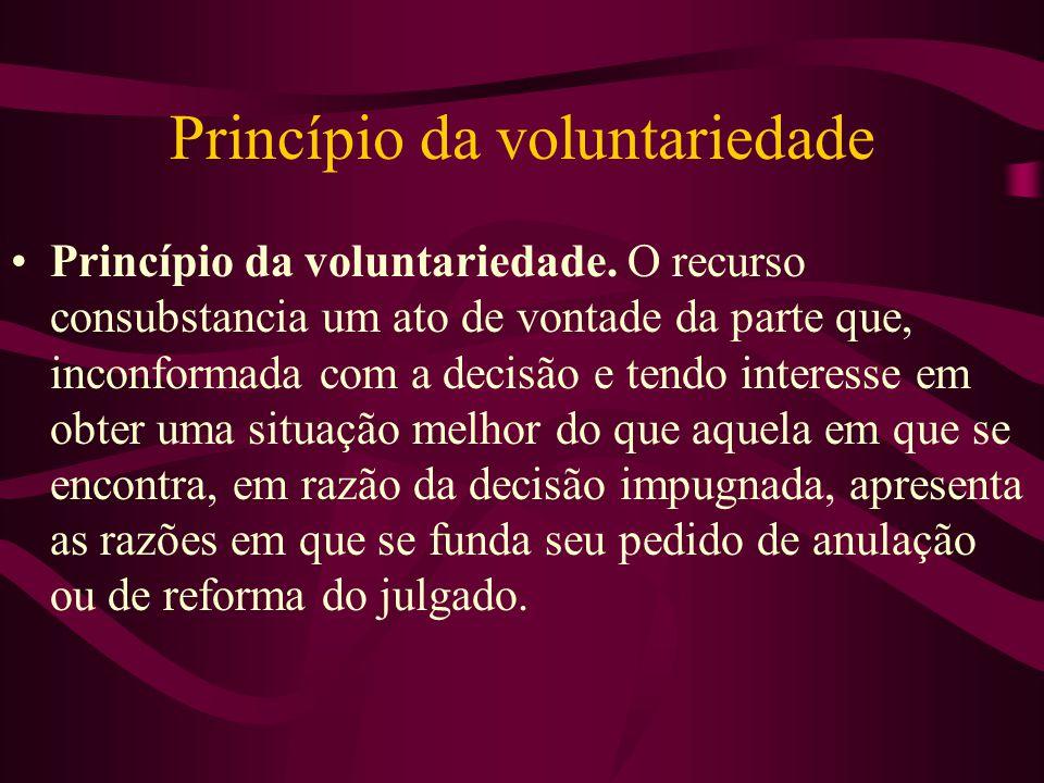 Princípio da voluntariedade •Princípio da voluntariedade.