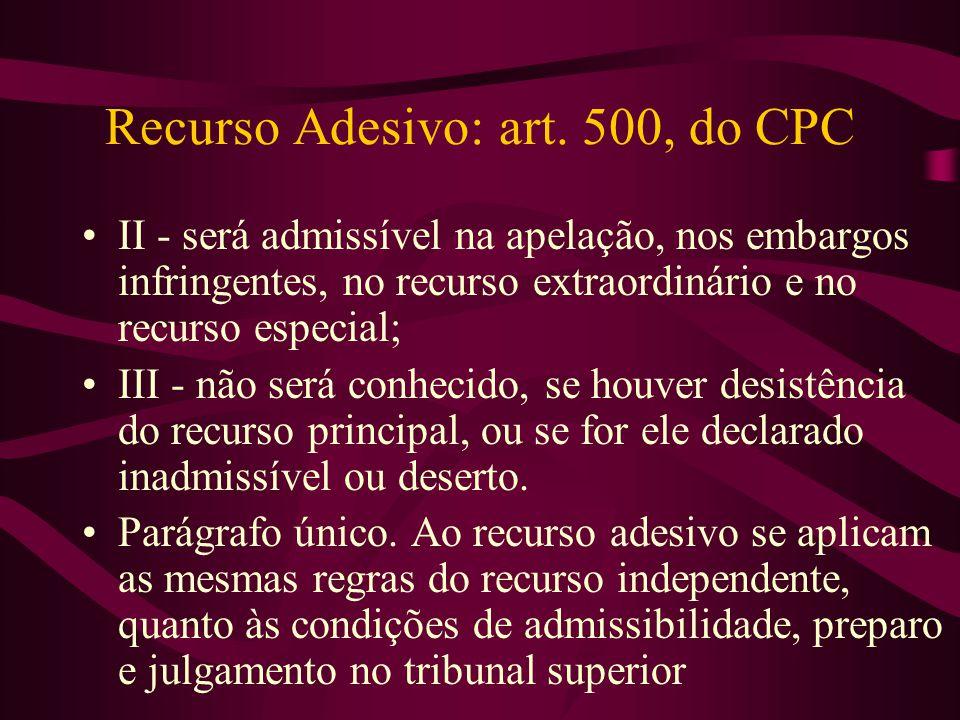 Recurso Adesivo: art.