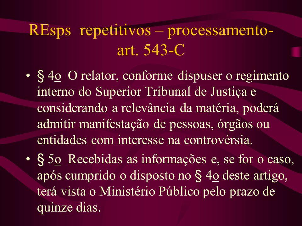 REsps repetitivos – processamento- art.