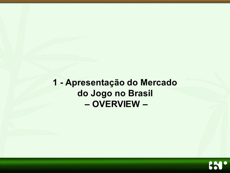 1 - Apresentação do Mercado do Jogo no Brasil – OVERVIEW –