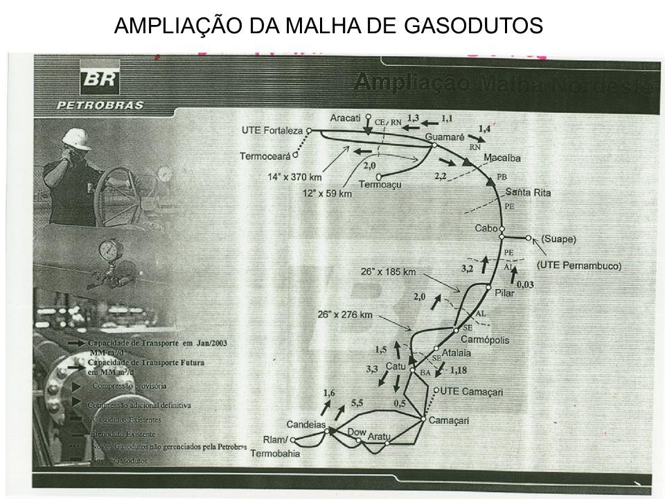 AMPLIAÇÃO DA MALHA DE GASODUTOS