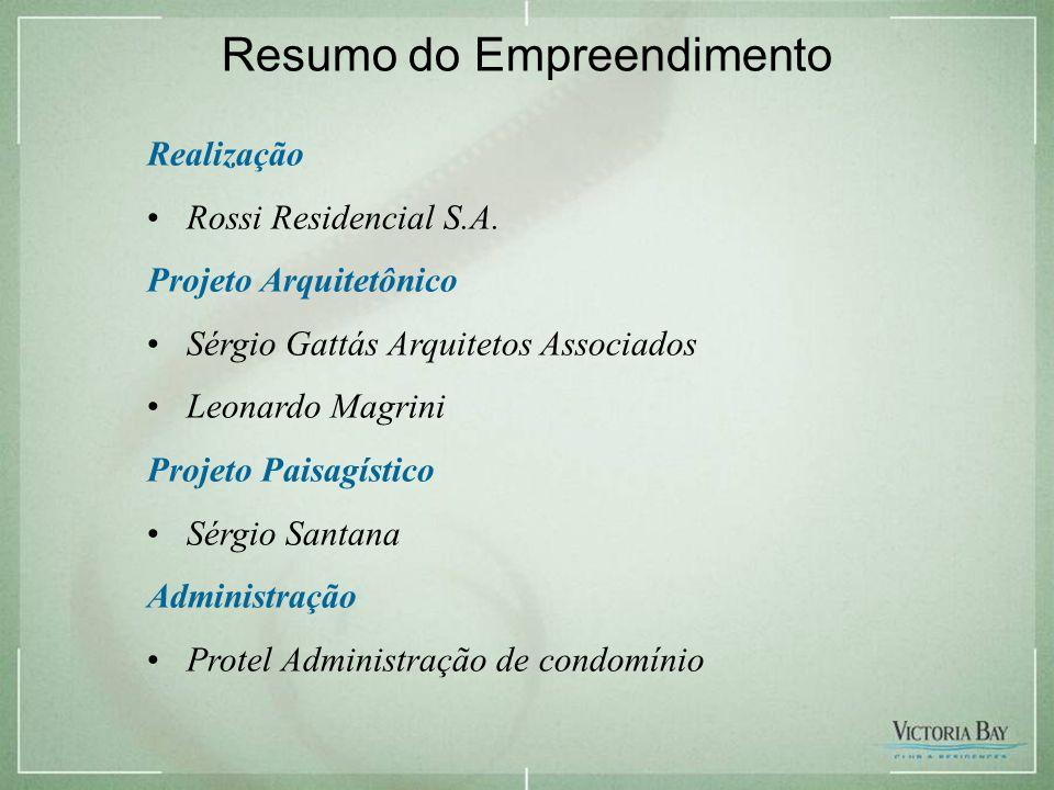 Resumo do Empreendimento Realização •Rossi Residencial S.A.
