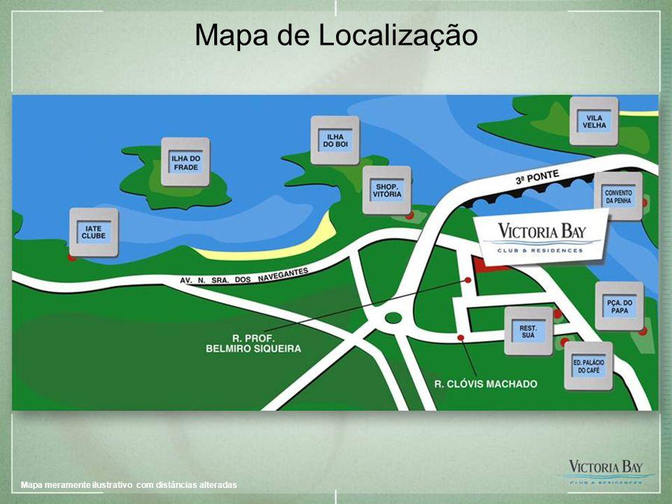 Imagem provisória – sujeita a alteração Mapa de Localização Mapa meramente ilustrativo com distâncias alteradas