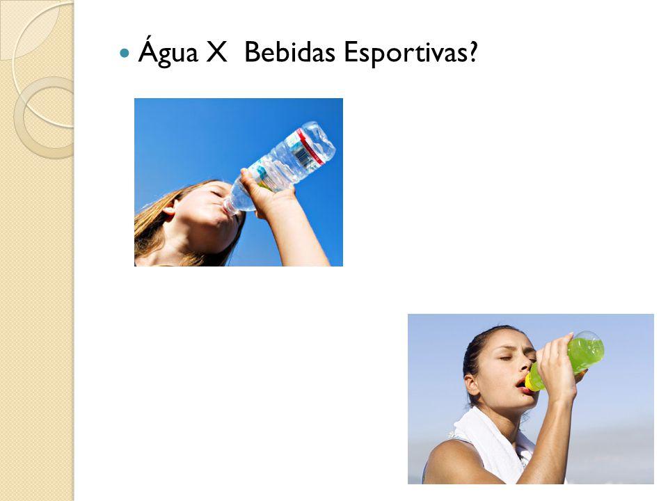 Água X Bebidas Esportivas?