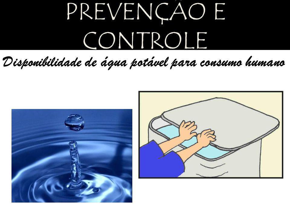 Disponibilidade de água potável para consumo humano PREVENÇÃO E CONTROLE