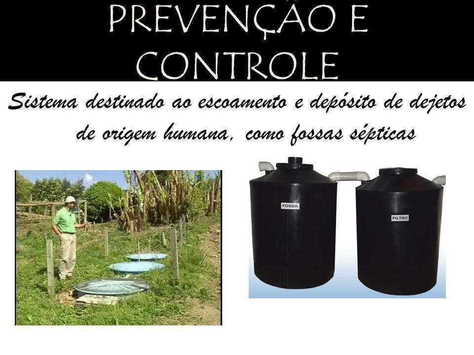 Sistema destinado ao escoamento e depósito de dejetos de origem humana, como fossas sépticas PREVENÇÃO E CONTROLE