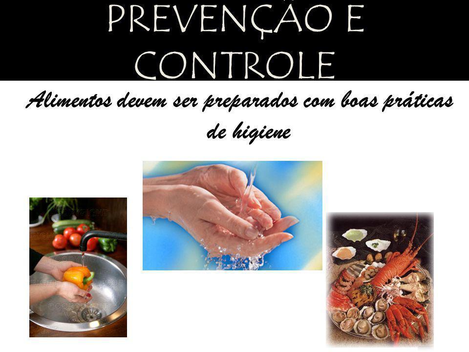 Alimentos devem ser preparados com boas práticas de higiene PREVENÇÃO E CONTROLE