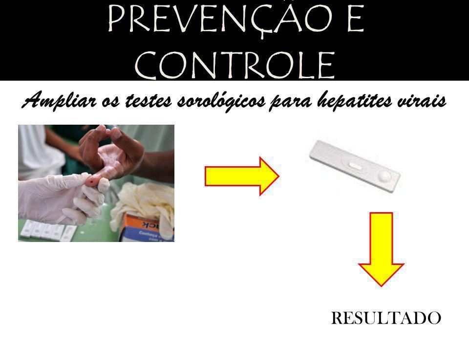 Ampliar os testes sorológicos para hepatites virais RESULTADO