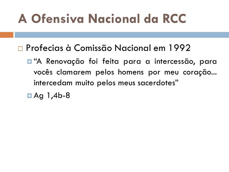 """A Ofensiva Nacional da RCC  Profecias à Comissão Nacional em 1992  """"A Renovação foi feita para a intercessão, para vocês clamarem pelos homens por m"""
