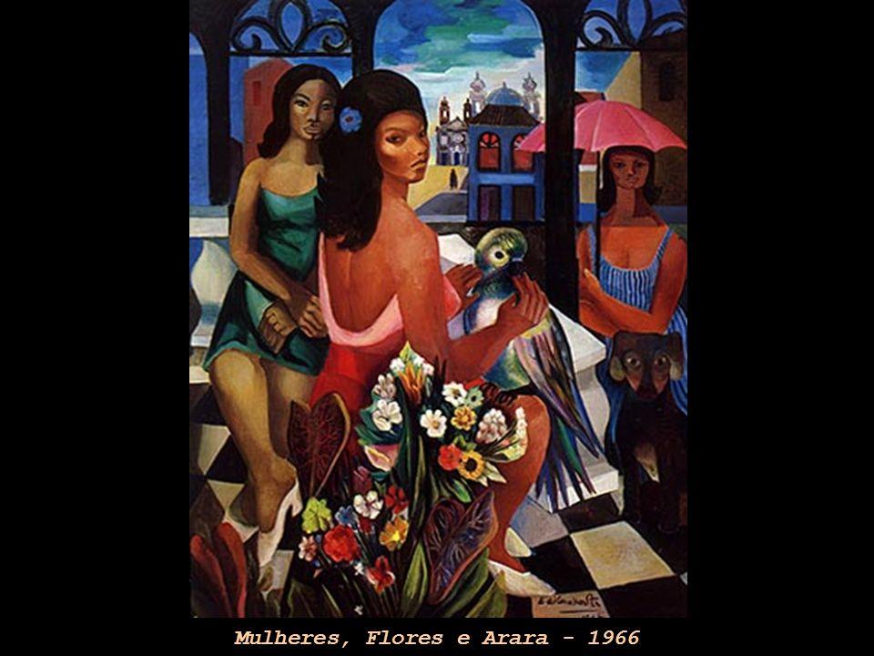 Mulheres, Flores e Arara - 1966