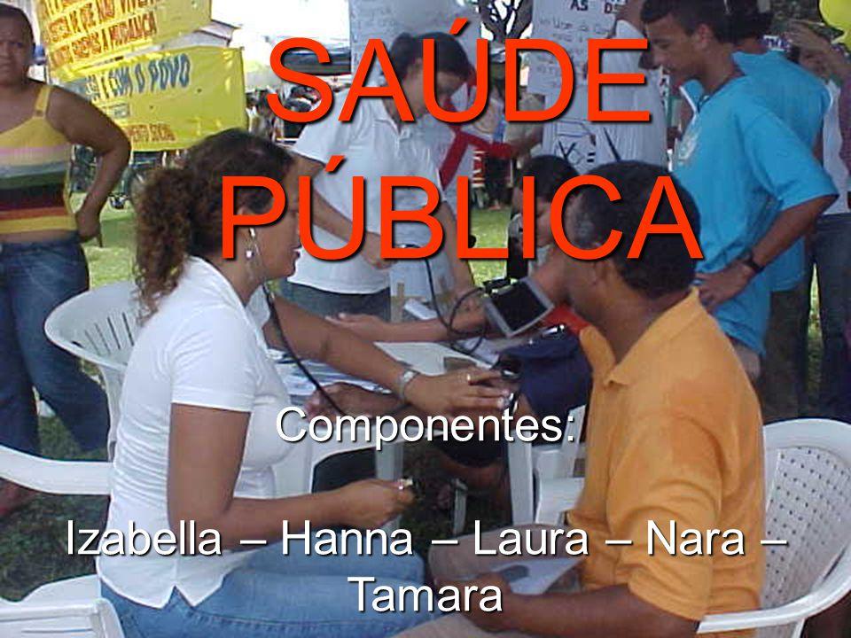 SAÚDE PÚBLICA Componentes: Izabella – Hanna – Laura – Nara – Tamara