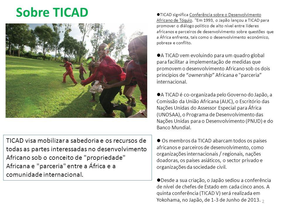 Sobre TICAD  TICAD significa Conferência sobre o Desenvolvimento Africano de Tóquio.
