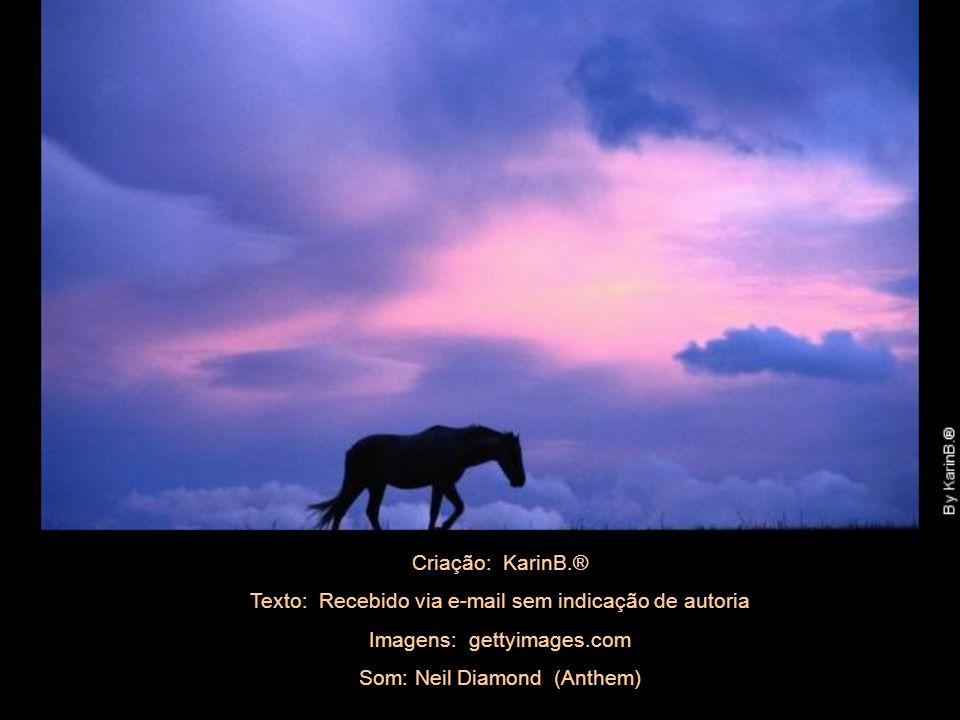 Criação: KarinB.® Texto: Recebido via e-mail sem indicação de autoria Imagens: gettyimages.com Som: Neil Diamond (Anthem)