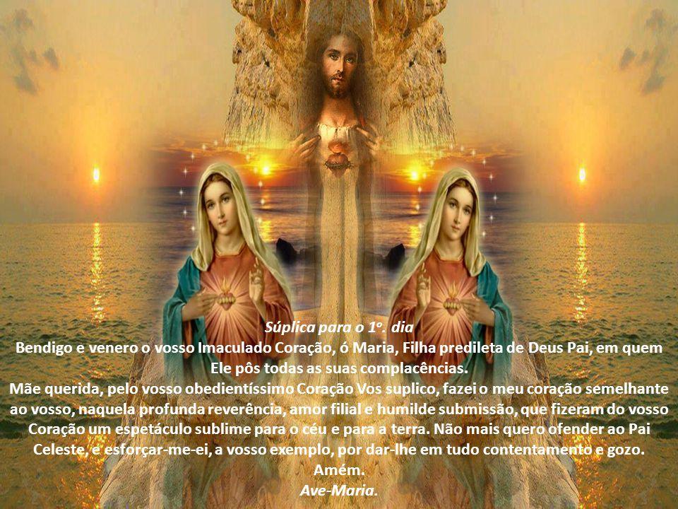 Oração Preparatória (para todos os dias) Senhora do Rosário, que Vos dignastes revelar aos pastorinhos, em Fátima, a devoção ao vosso Imaculado Coraçã