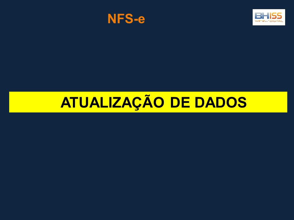 ATUALIZAÇÃO DE DADOS NFS-e