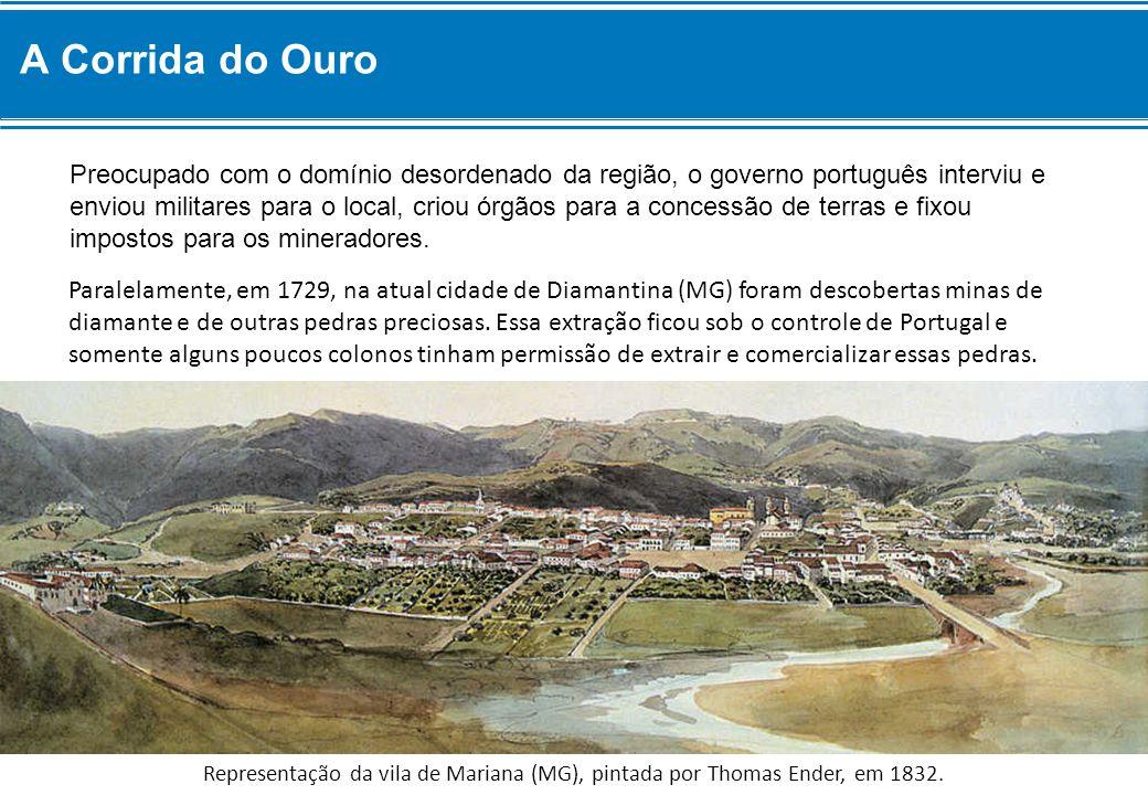 Preocupado com o domínio desordenado da região, o governo português interviu e enviou militares para o local, criou órgãos para a concessão de terras