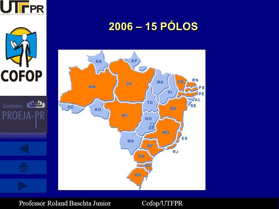 Professor Roland Baschta Junior Cofop/UTFPR 2006 – 15 PÓLOS