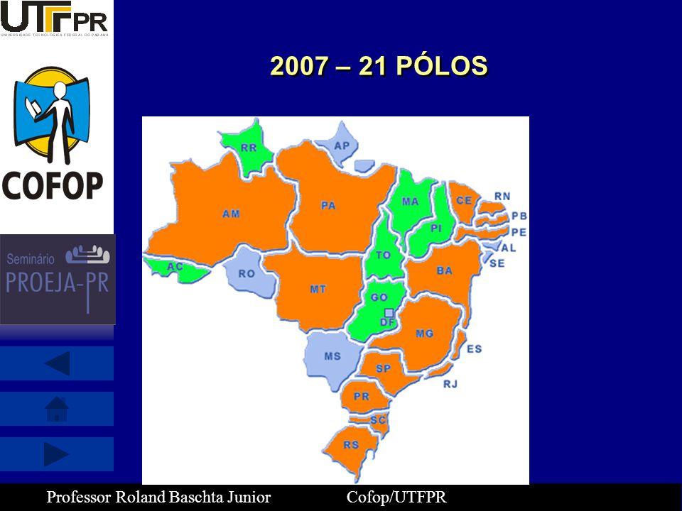 Professor Roland Baschta Junior Cofop/UTFPR 2007 – 21 PÓLOS